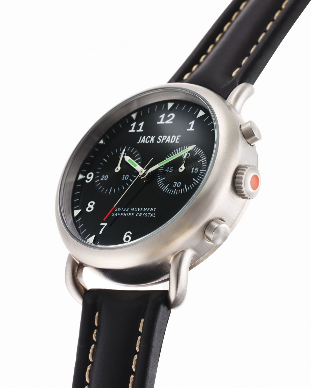 jack spade norton 2eye chronograph black watch 38mm in black for gallery