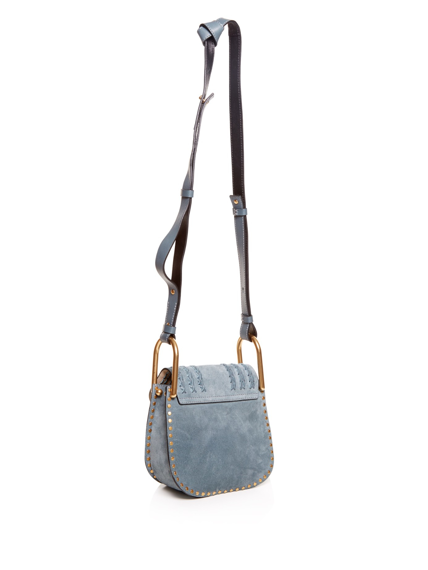 Chlo�� Hudson Suede Cross-Body Bag in Blue (LIGHT BLUE) | Lyst