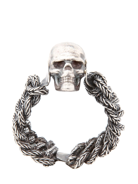 Emanuele Bicocchi Mens Skull Cameo Ring JXQRgzeVg
