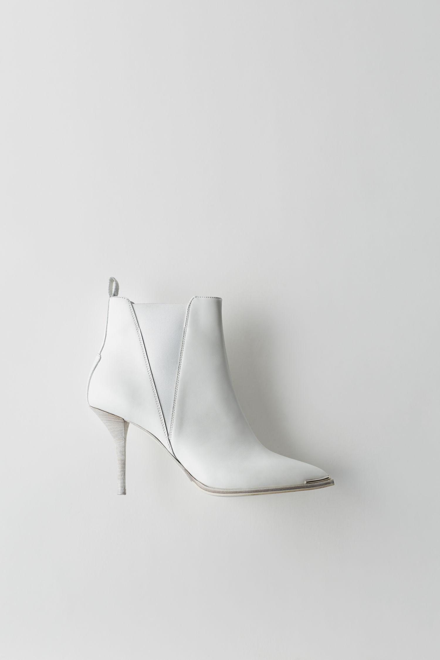 Acne Jemma Blanco/Blanco Stiletto Botas in Lyst Blanco Lyst in 3b9de2