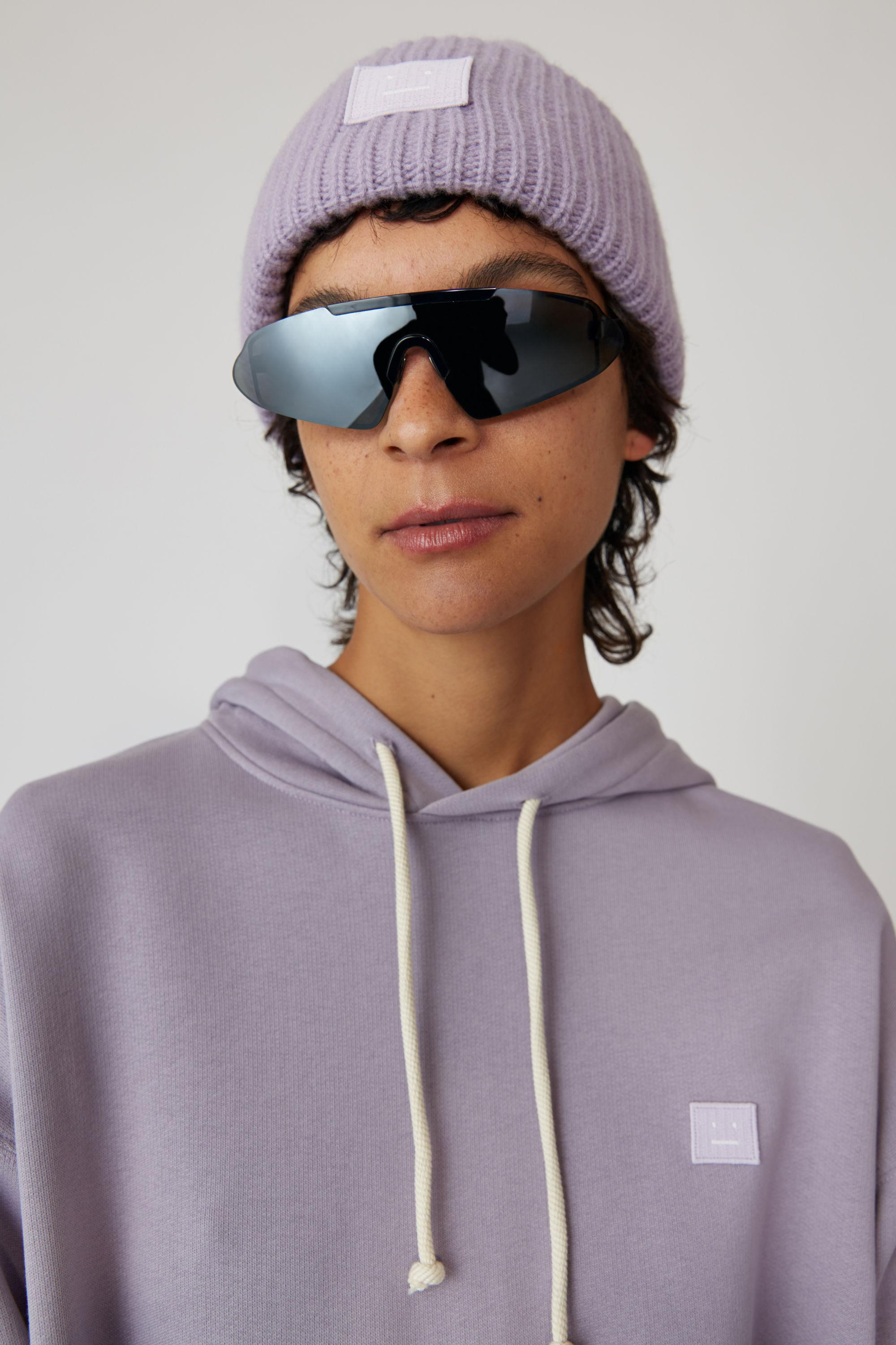 Lyst - Acne Studios Pansy N Face Mauve Purple Oversized Beanie in ... 704c745938b1