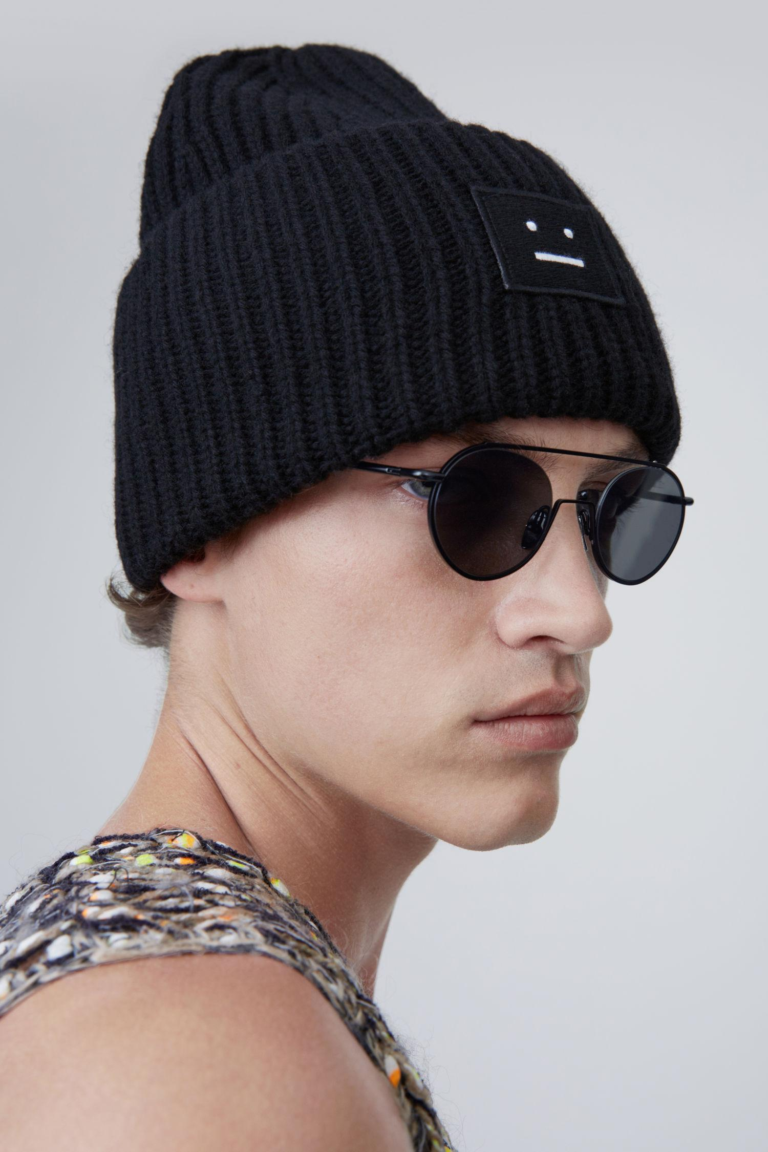Lyst - Acne Studios Pansy Wool black in Black for Men a68f9e1a975