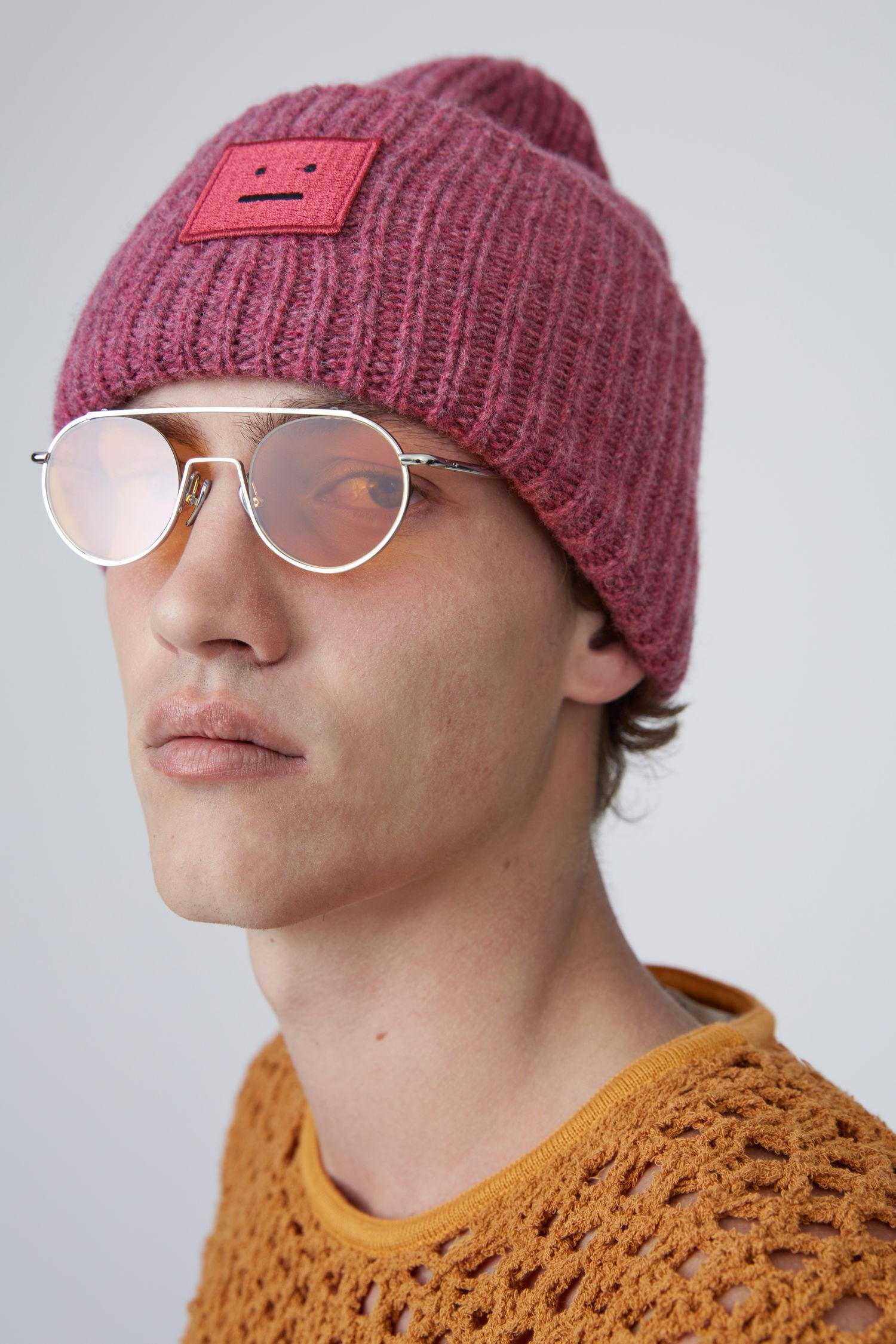 066f797c596a3 Acne Studios Pink Melange Pansy H Wool in Pink - Lyst