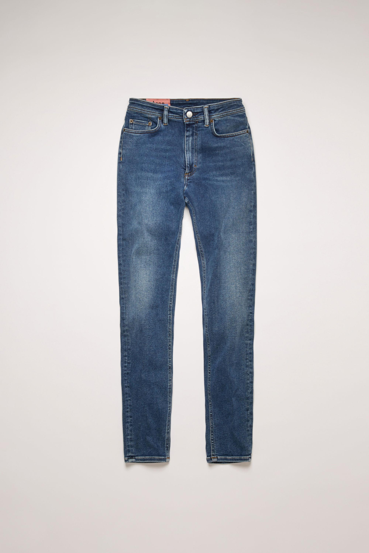 Jean skinny taille haute Jean Acne Studios en coloris Bleu