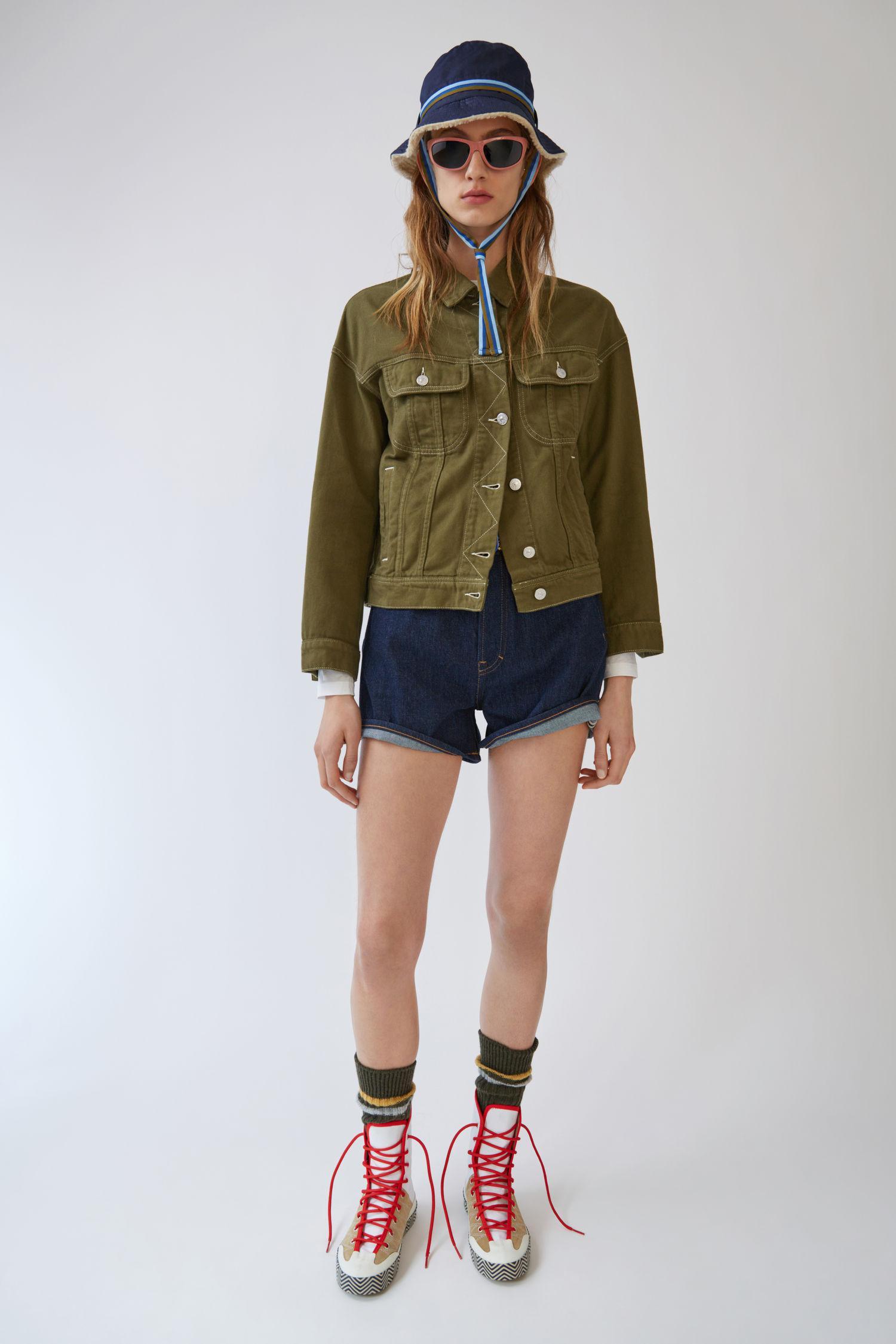 8aa85982d Acne Oversized Denim Jacket burnt Olive Green