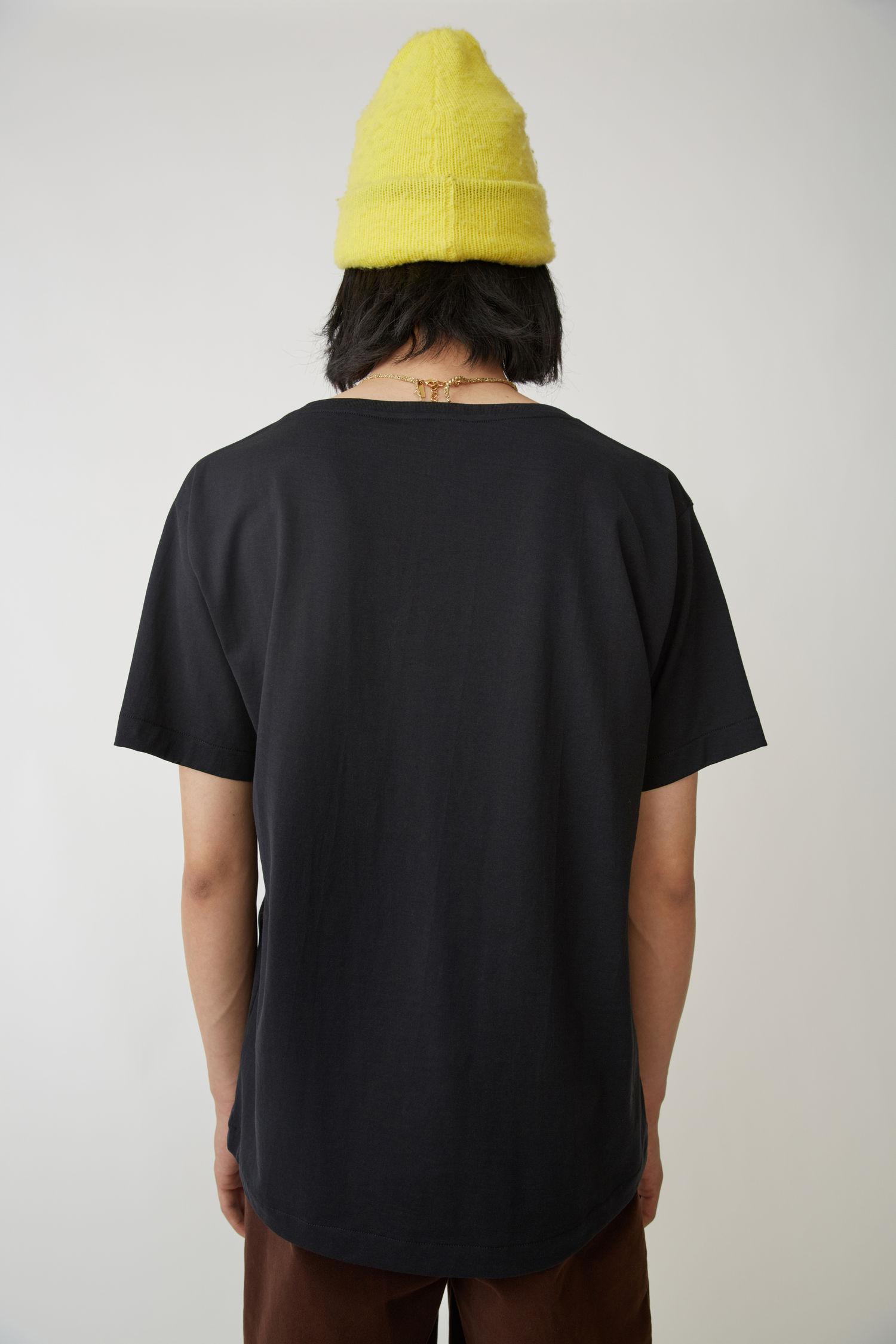 Acne Studios Cotton Scoop Neck T-shirt black for Men