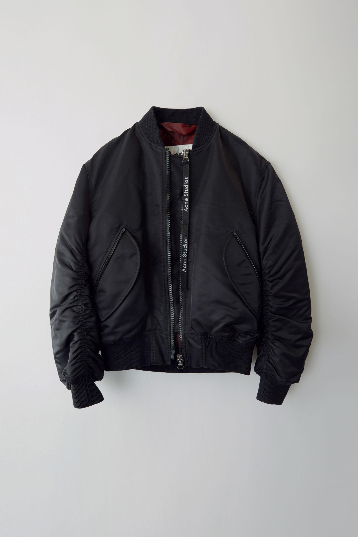 Acne Jacket Classic in Black Bomber Bomber Lyst Clea Black U4qxwUBS