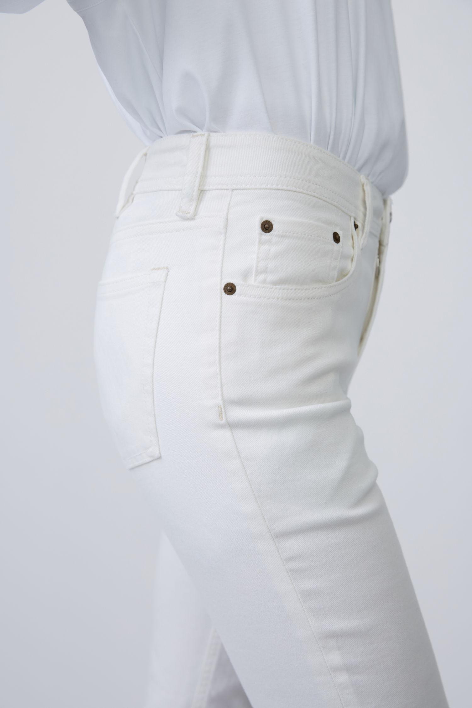 Acne Studios Denim Stretch Fit Jeans in White