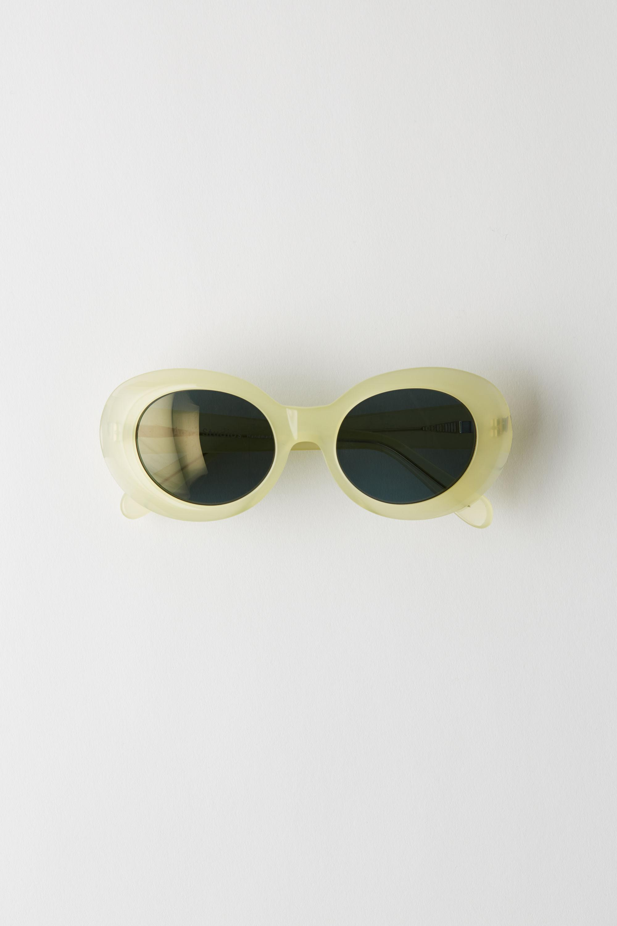 0ba6a8895a Lyst - Acne Studios Mustang Yellow blue Oval Sunglasses in Blue