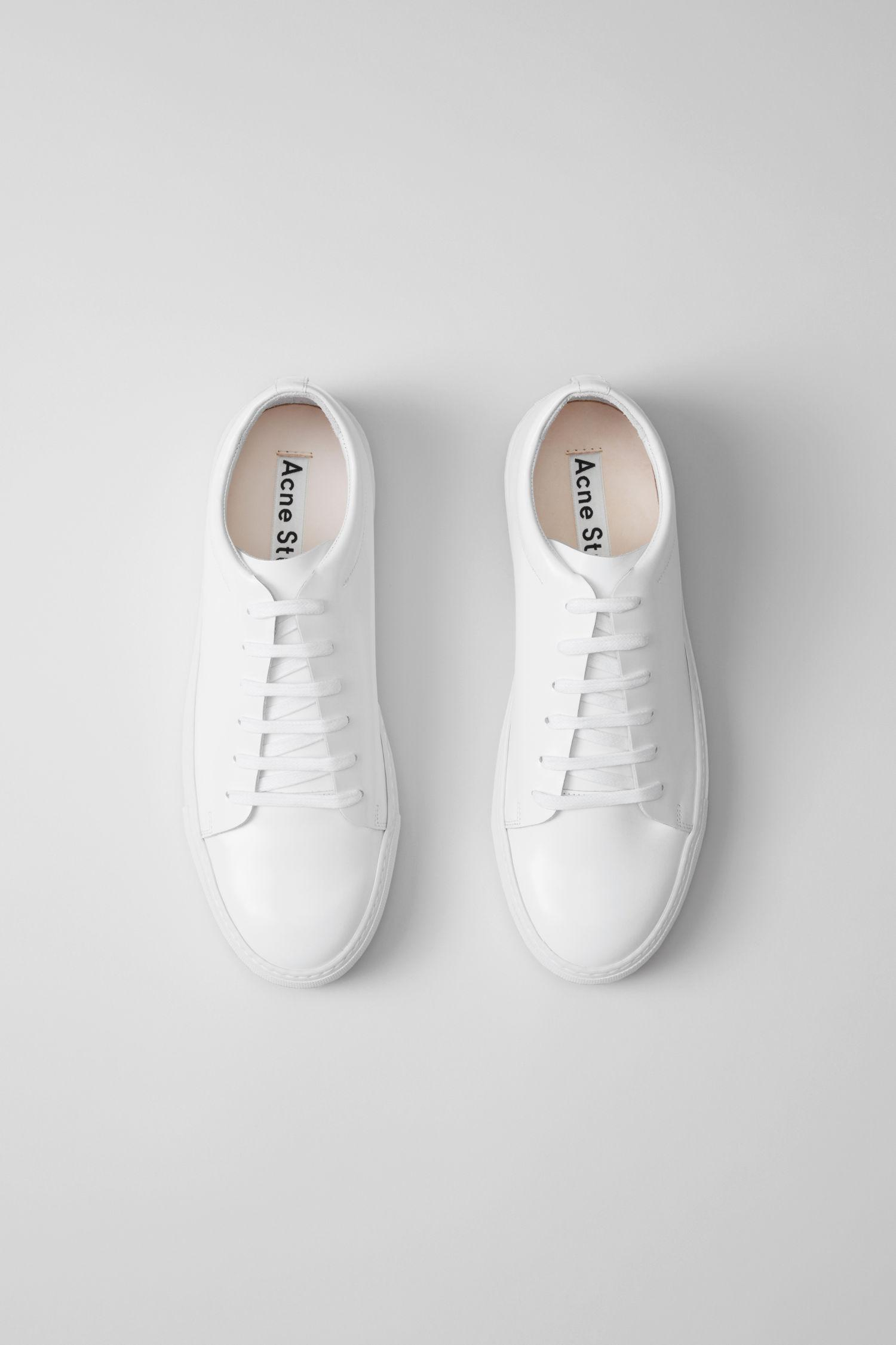 Acne Studios Leather Tennis Shoes white