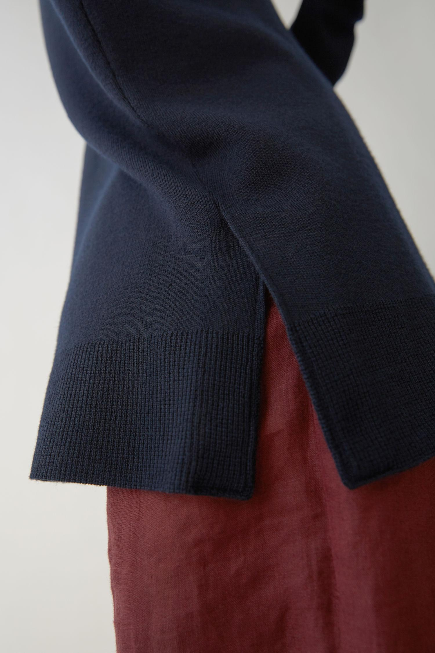Acne Studios Wool Boxy Fit Pullover navy in Blue for Men