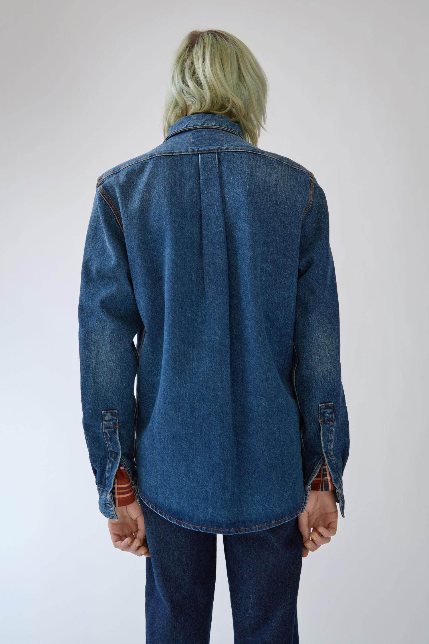 Acne Studios Denim Classic Shirt mid Vintage in Blue for Men
