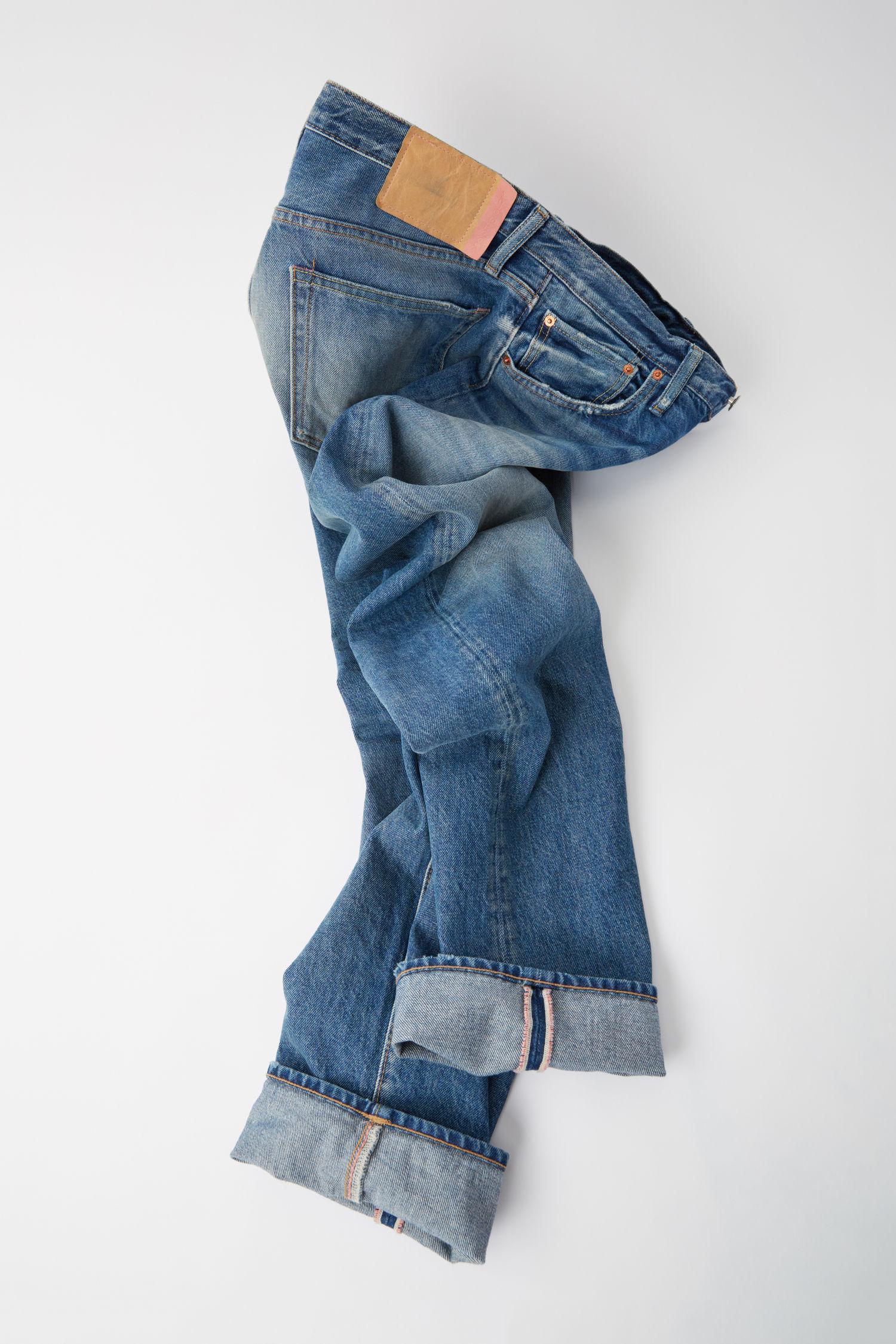 Acne Studios Denim Classic Fit Jeans mid Blue for Men