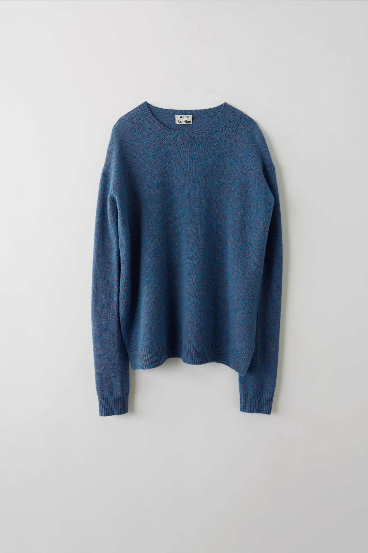 beb131d8 Acne Studios Deniz Blue Melange Heathered Sweater in Blue - Lyst