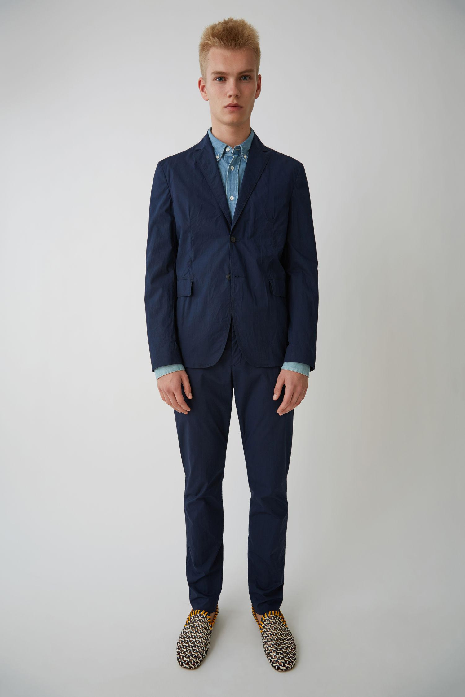 Acne Studios. Men's Blue Slim Fit Jacket navy