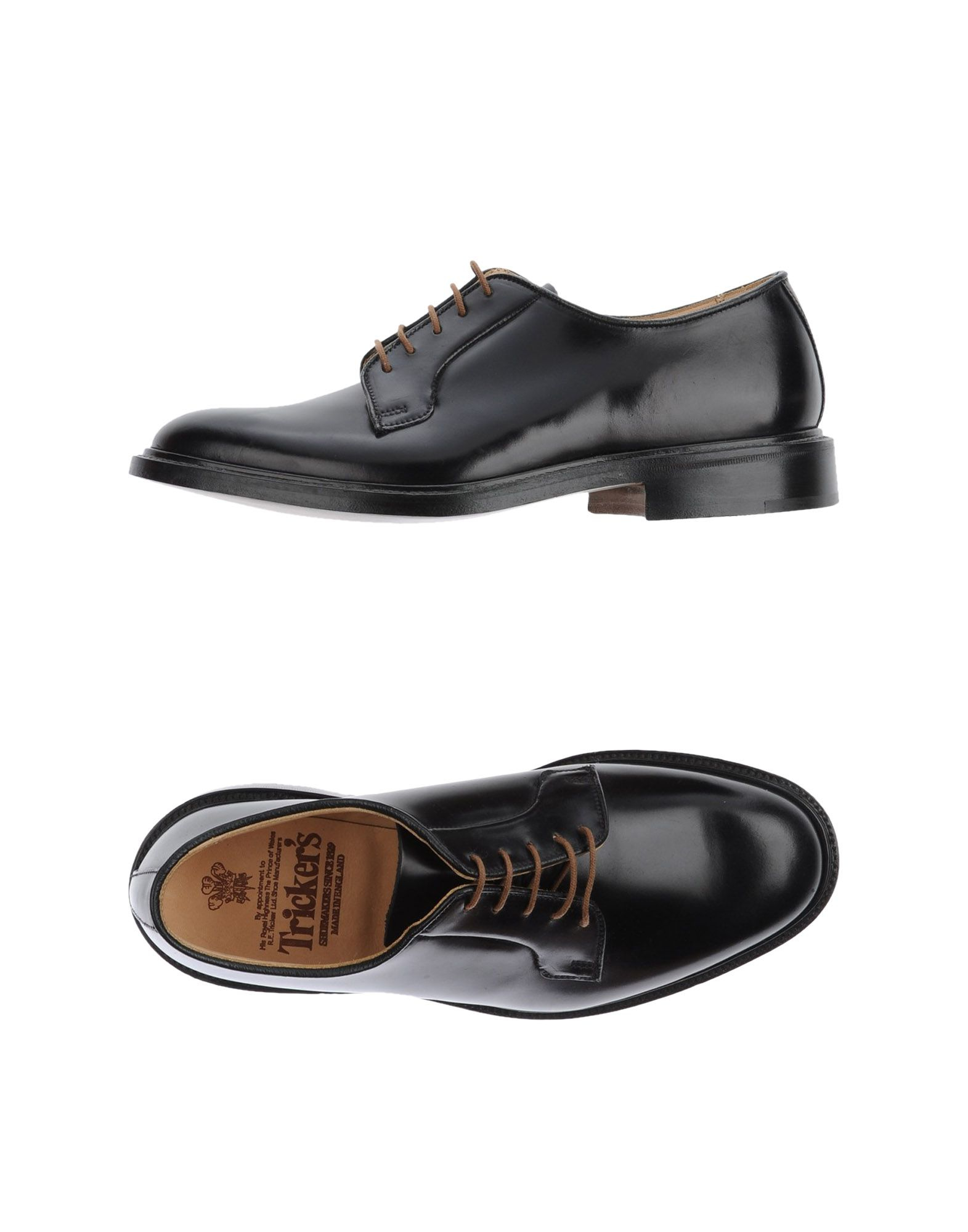 tricker s lace up shoes in black for lyst