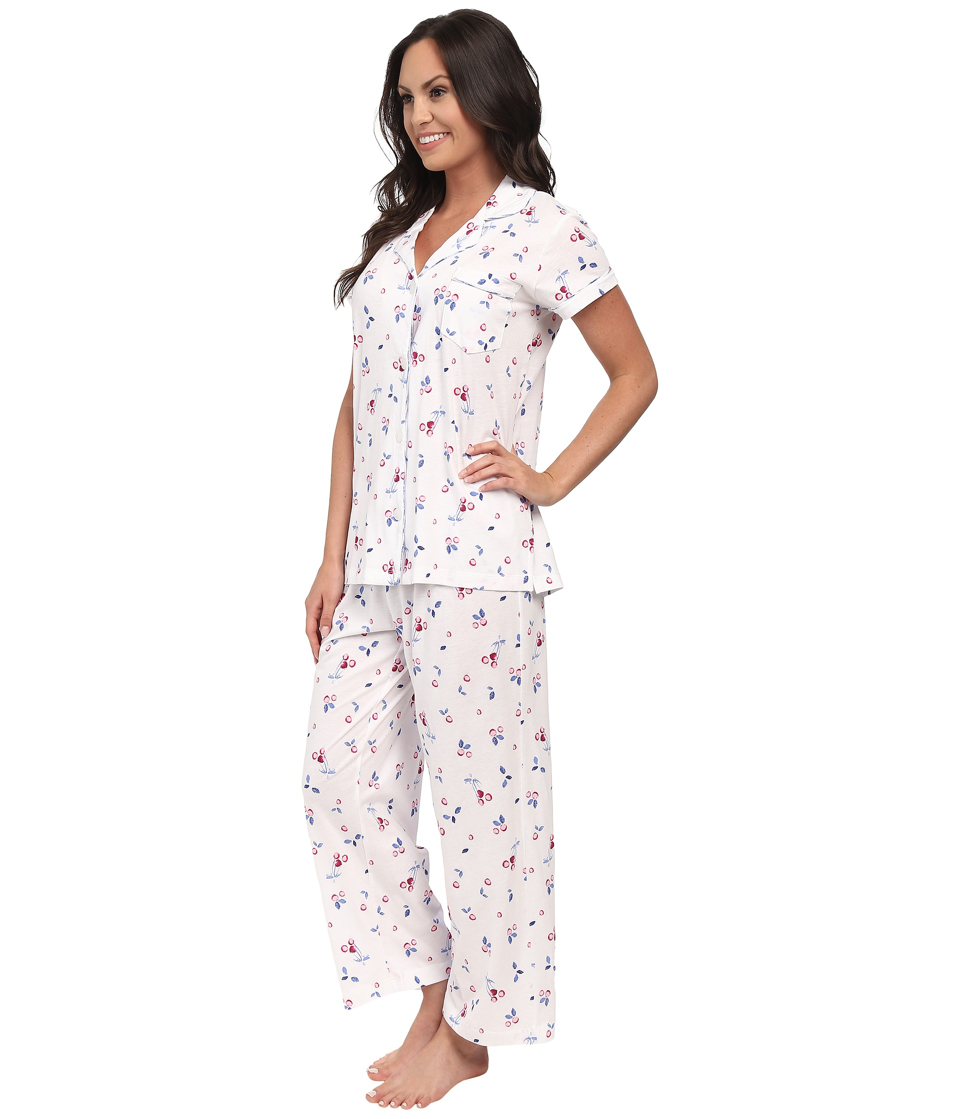 A short sleeve top and shorts makes up this big and tall sleep set so you stay cool even during summer nights. Generous cut with plenty of room to move Roomy five-button front top has open sleeves.