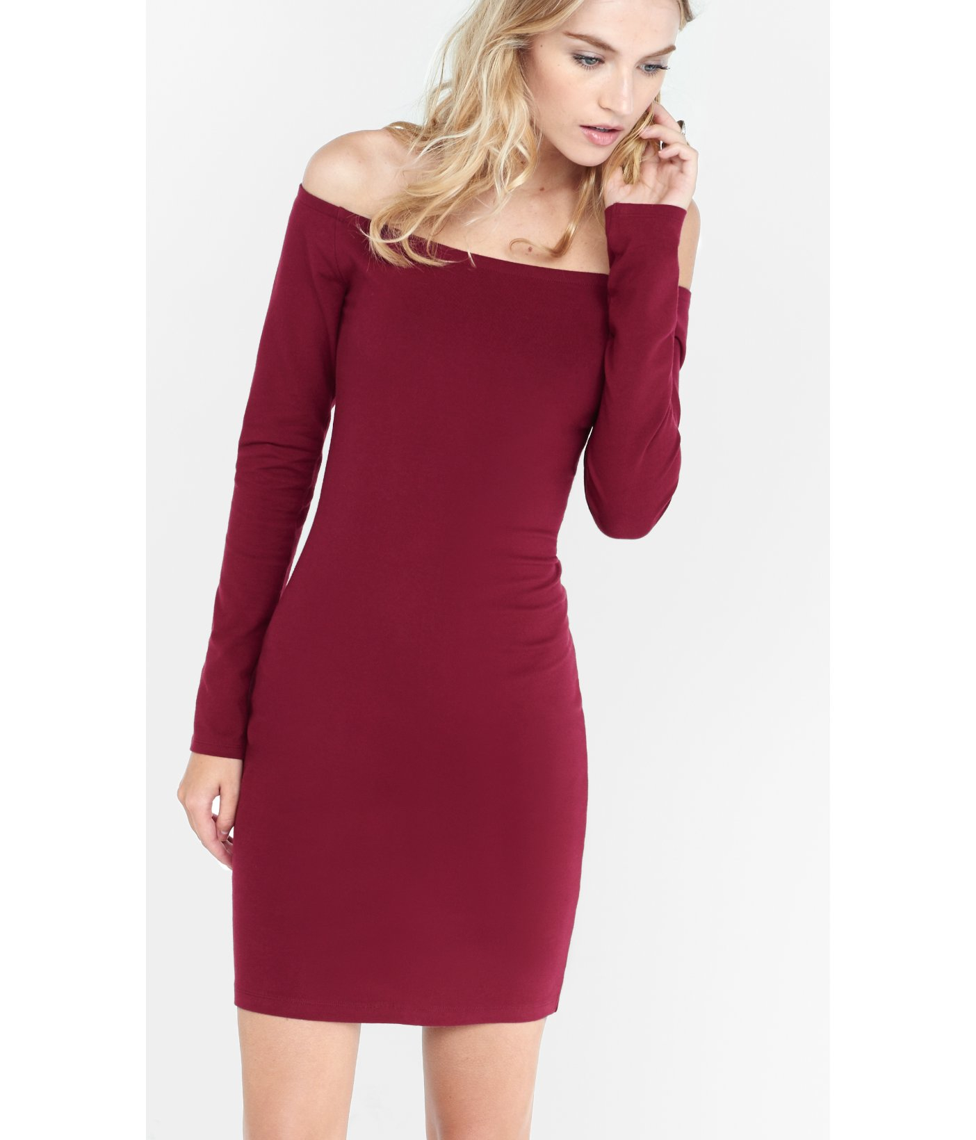 Purple Off the Shoulder Dress