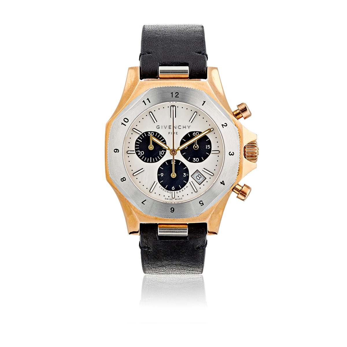 Givenchy five chronograph watch in metallic for men lyst for Givenchy watches