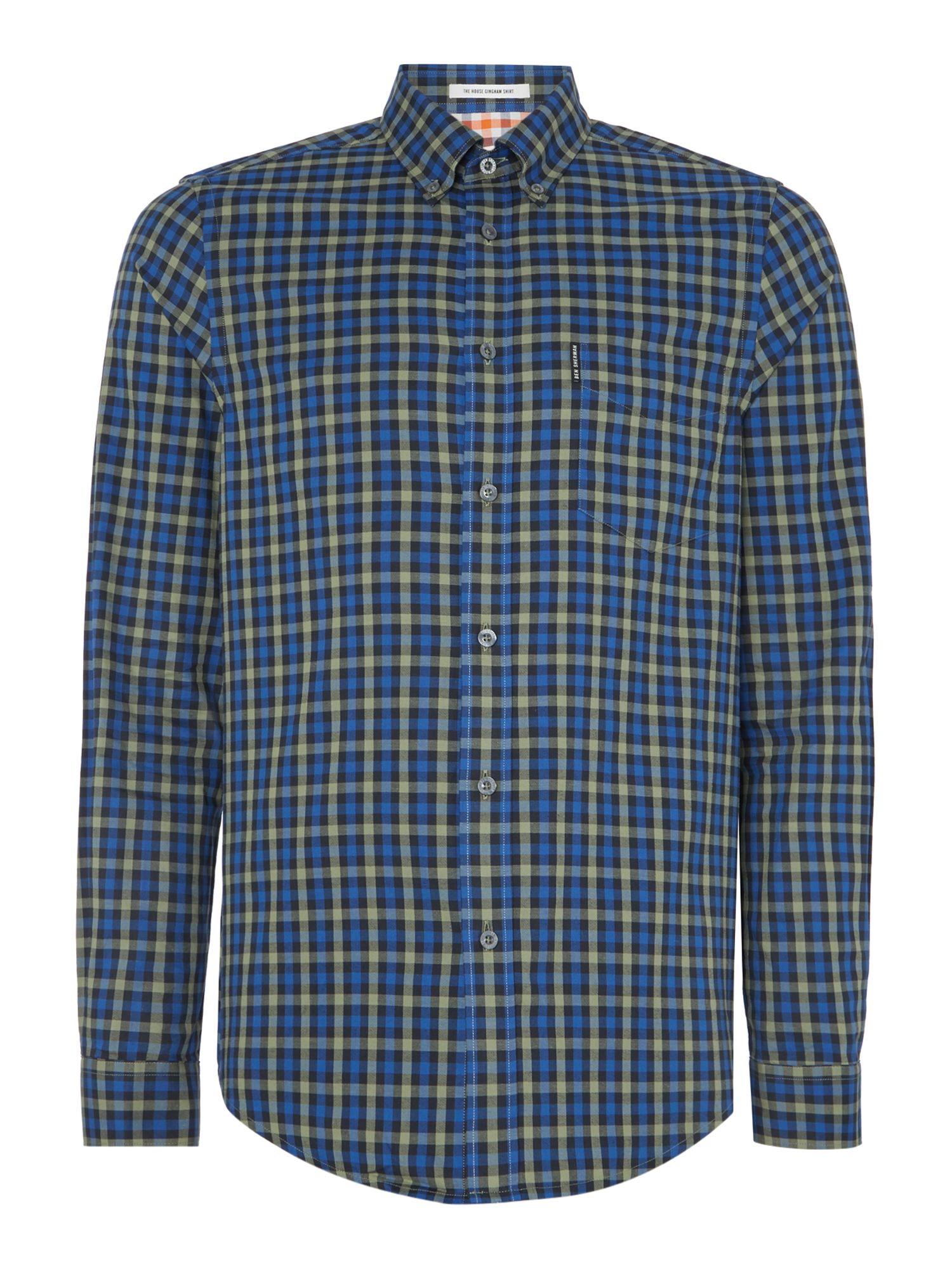 Ben Sherman House Gingham Long Sleeve Shirt In Green For