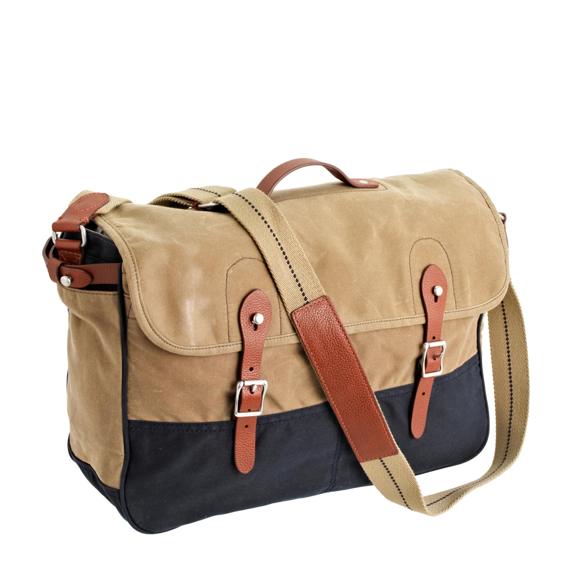 Lyst - J.Crew Abingdon Messenger Bag In Two-Tone in Natural for Men cc73b1c9605f5
