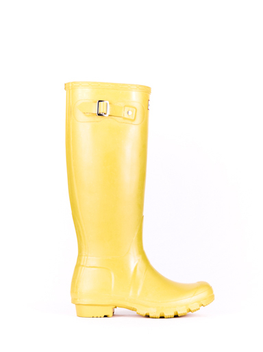 hunter original tall rain boots in yellow for men lyst