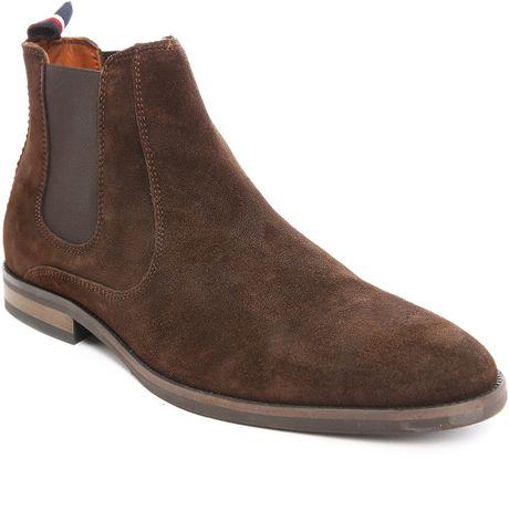 tommy hilfiger brown dalton 18b suede chelsea boots for. Black Bedroom Furniture Sets. Home Design Ideas