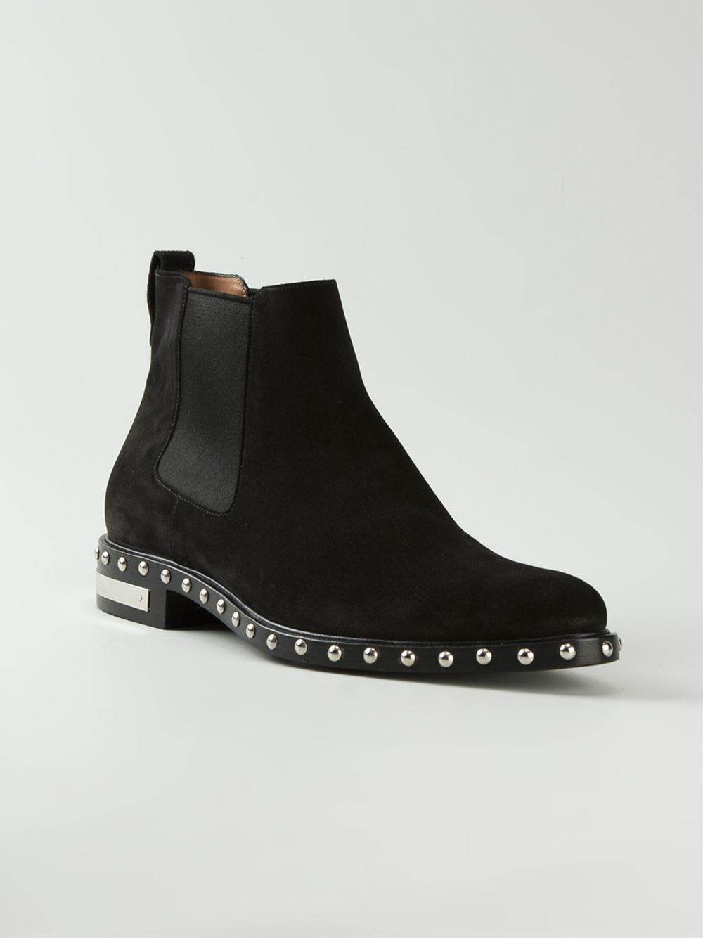 Givenchy Studded Chelsea Boots in Black