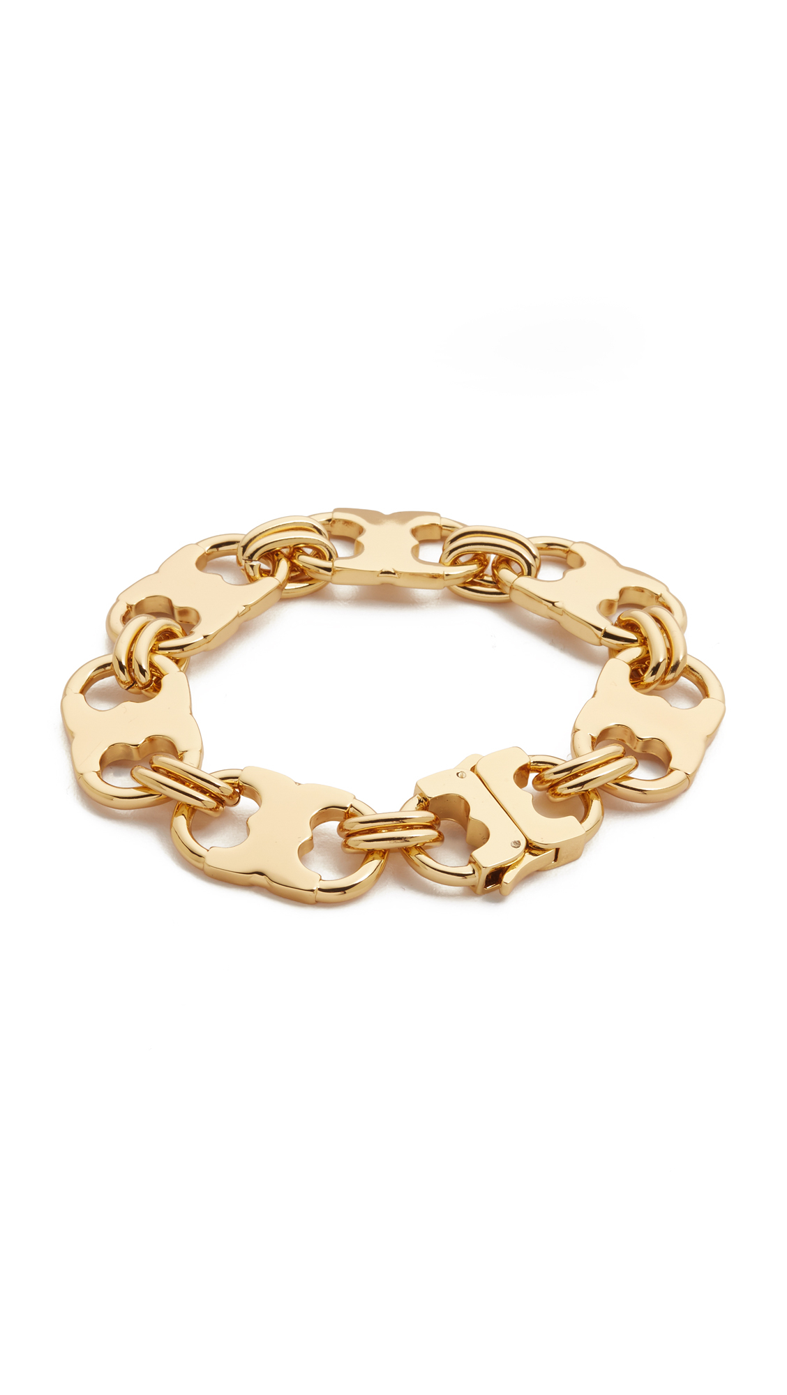 tory burch gemini link bracelet in metallic lyst. Black Bedroom Furniture Sets. Home Design Ideas