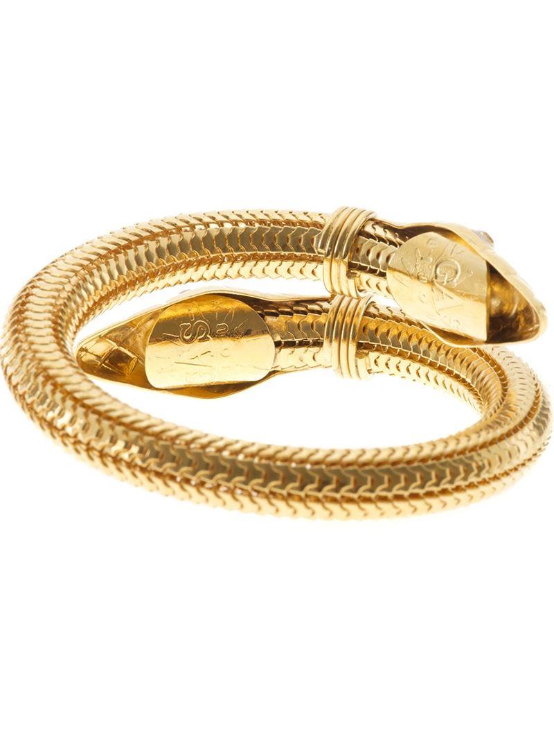 Gas Bijoux Cobra Bangle in Metallic