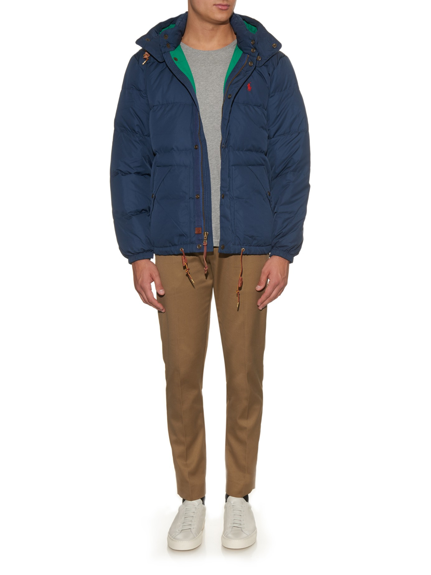 Lyst - Polo Ralph Lauren Elwood Hooded Quilted Down Jacket ...
