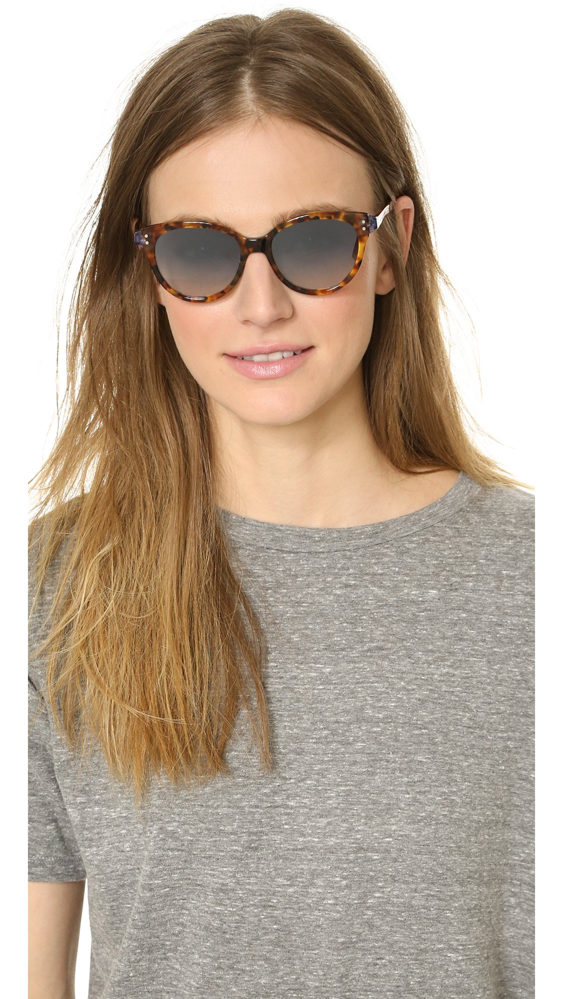 Marc By Marc Jacobs Cat Eye Sunglasses  marc by marc jacobs cat eye sunglasses havana fuchsia silver in