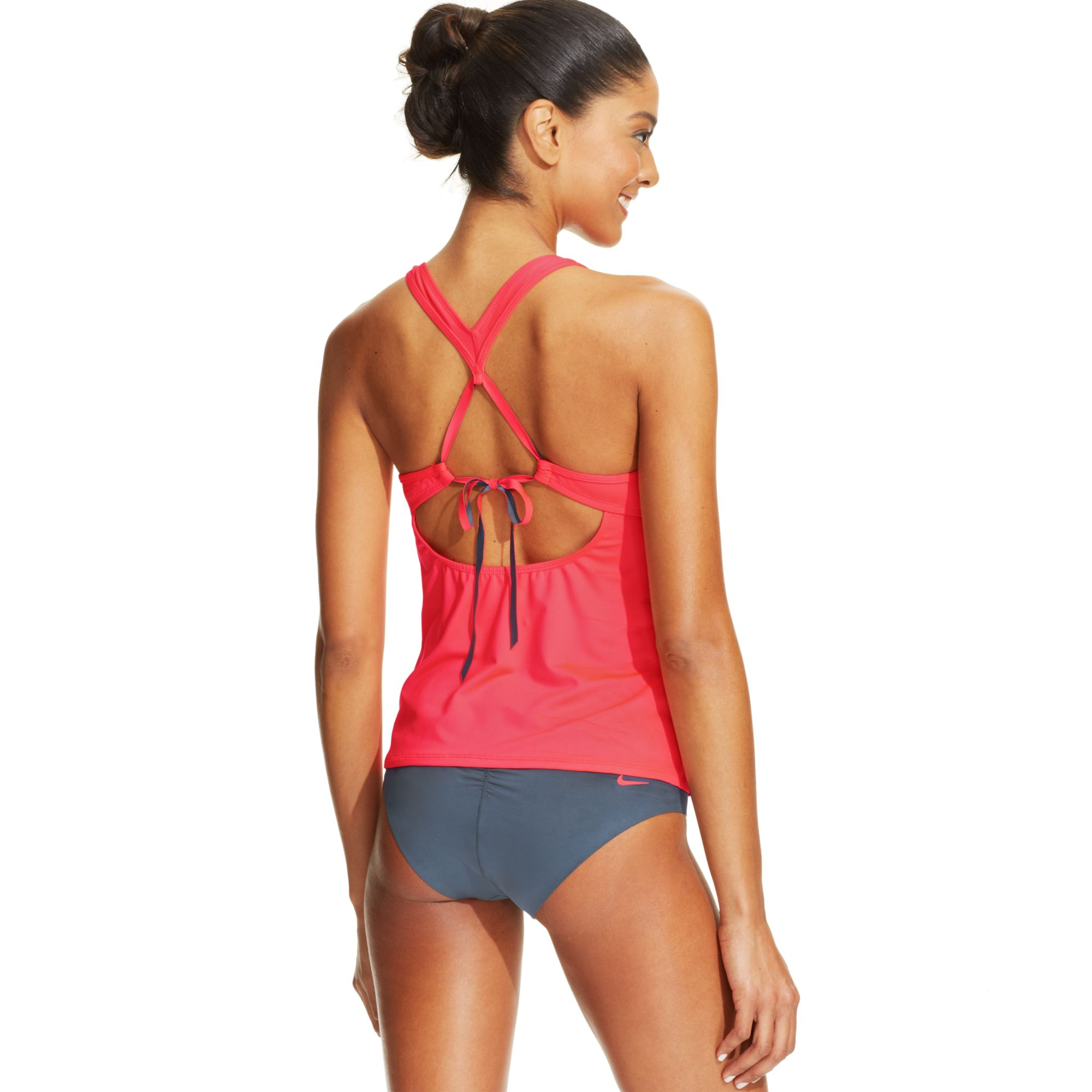 d153d1eed2 Nike Crossover Racerback Tankini Top in Pink - Lyst
