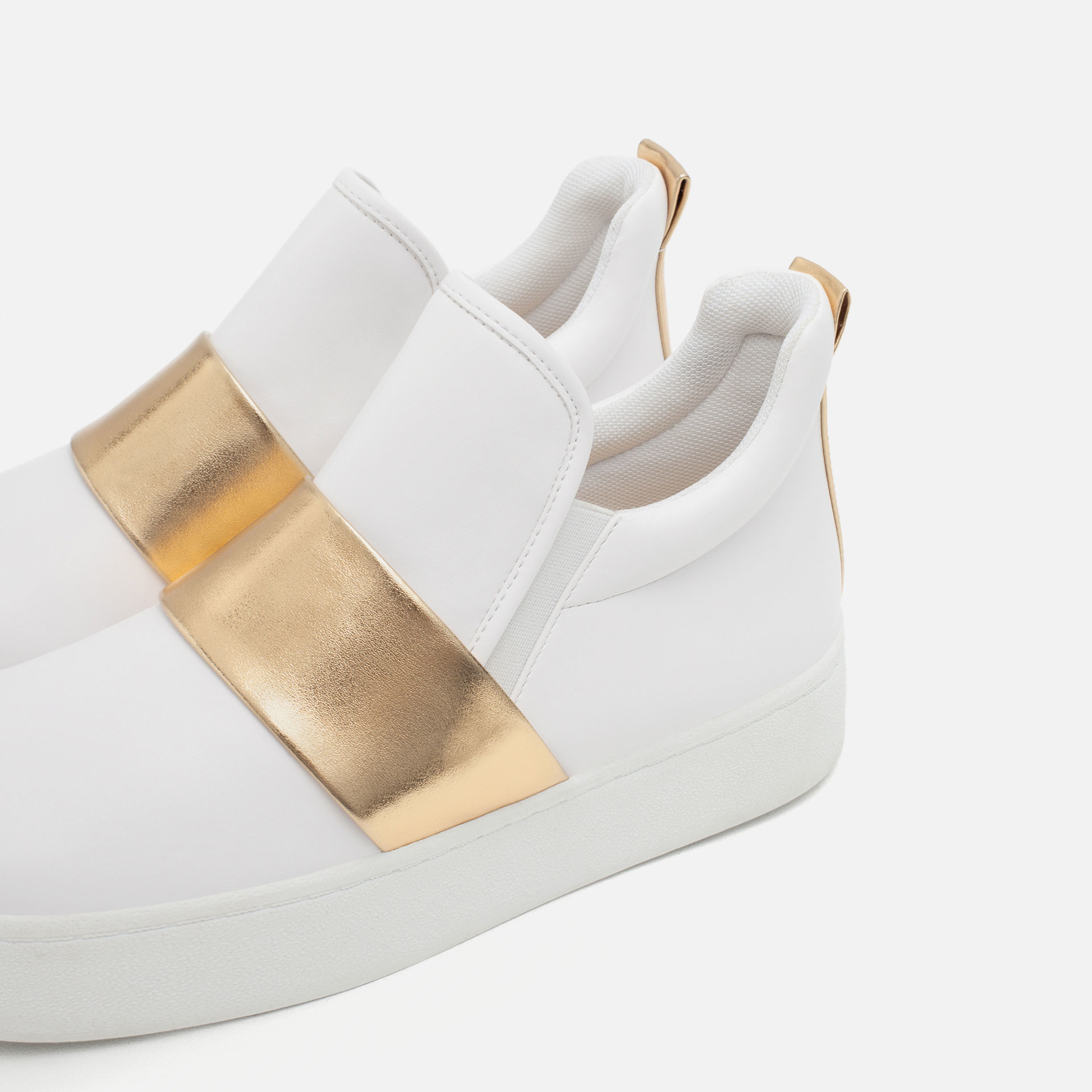 zara high top sneakers in white lyst