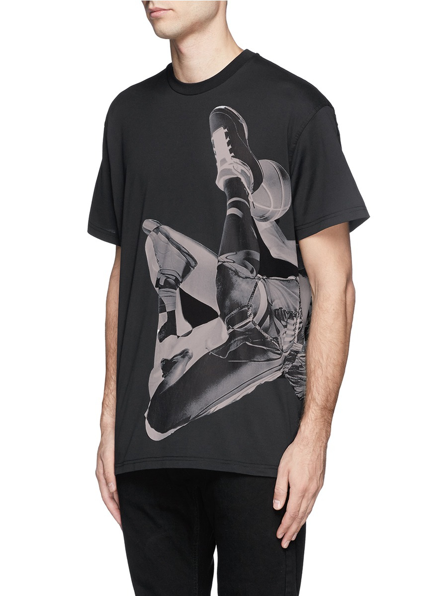 Lyst Givenchy Basketball Player Print T Shirt In Black