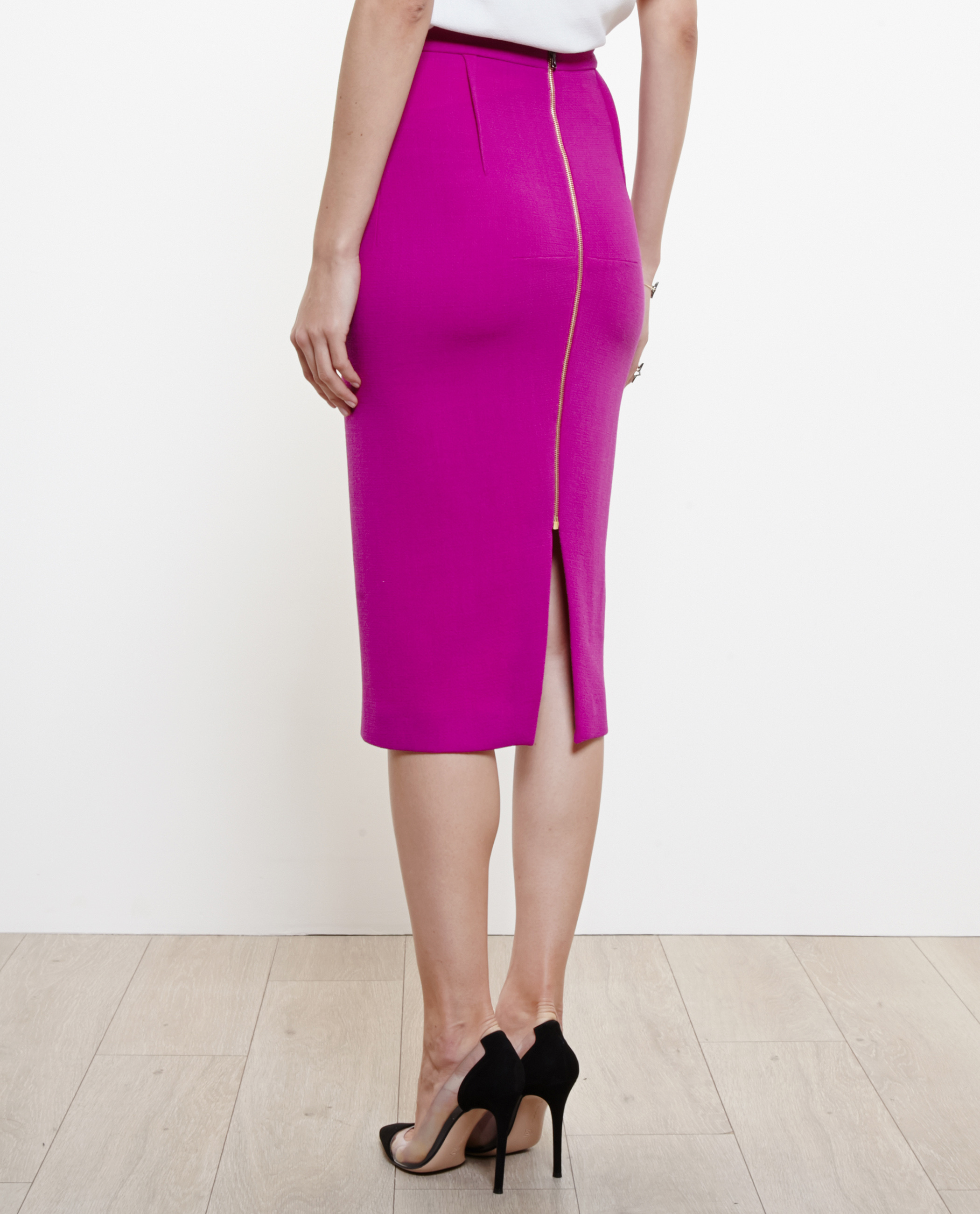 cbce10e3b8 Roland Mouret Arreton Wool Crepe Pencil Skirt in Purple - Lyst