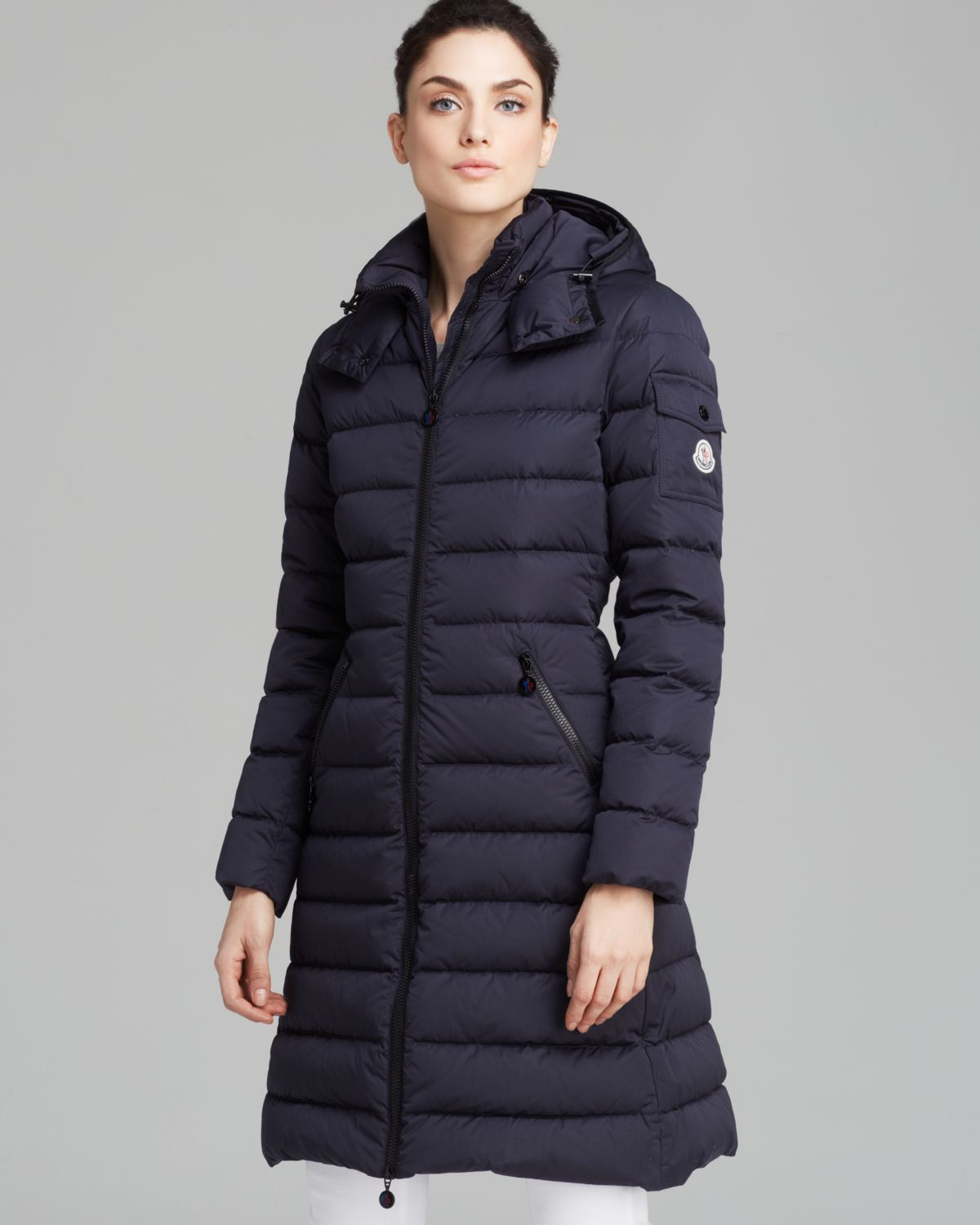 moncler womens quilted knee length parka