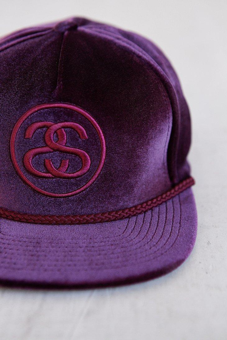 c090df6f ... reduced lyst stussy velvet snapback hat in purple for men 4fe5b d085e