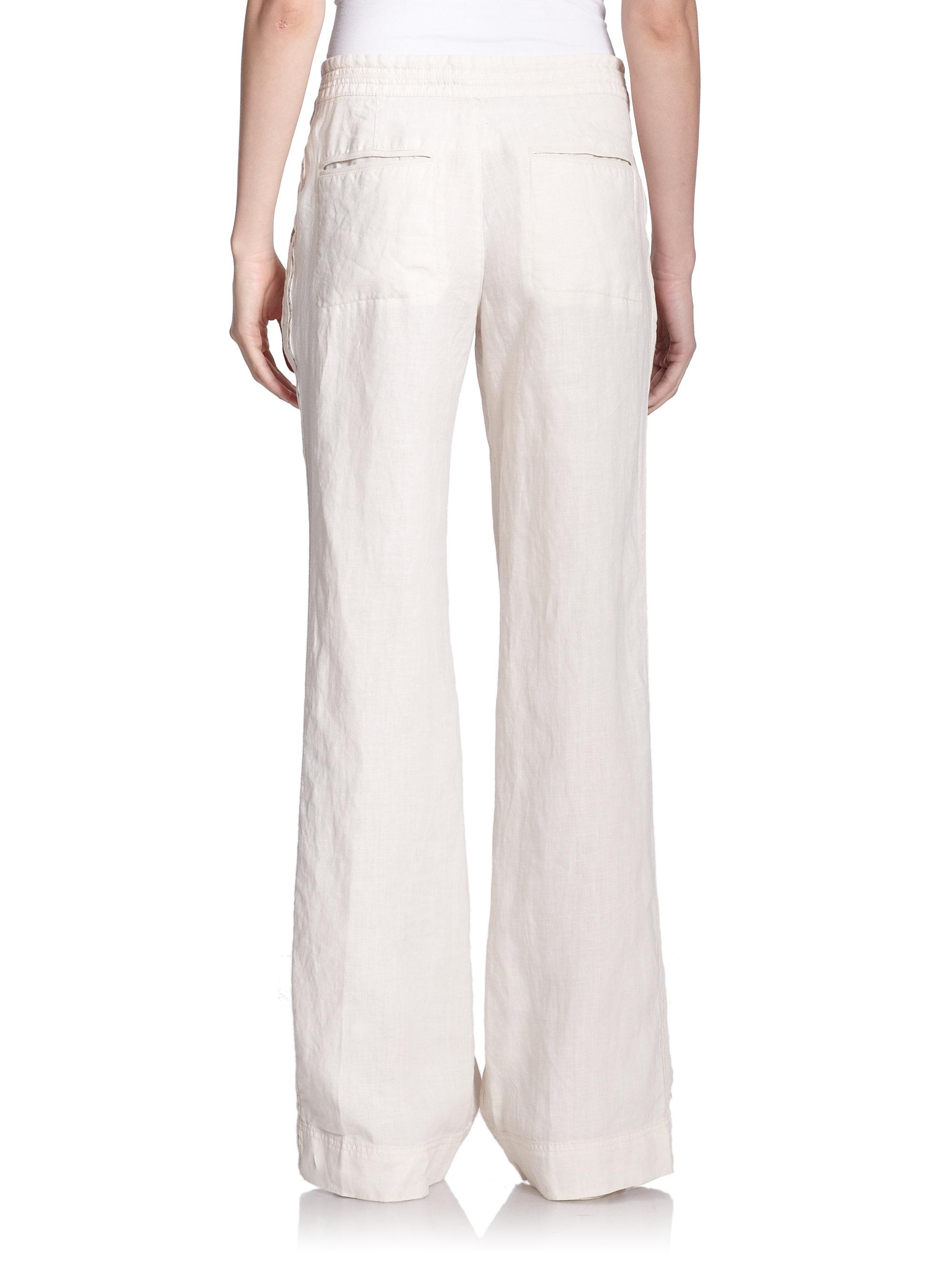 Joie Katriane Wide-leg Linen Pants in Natural | Lyst