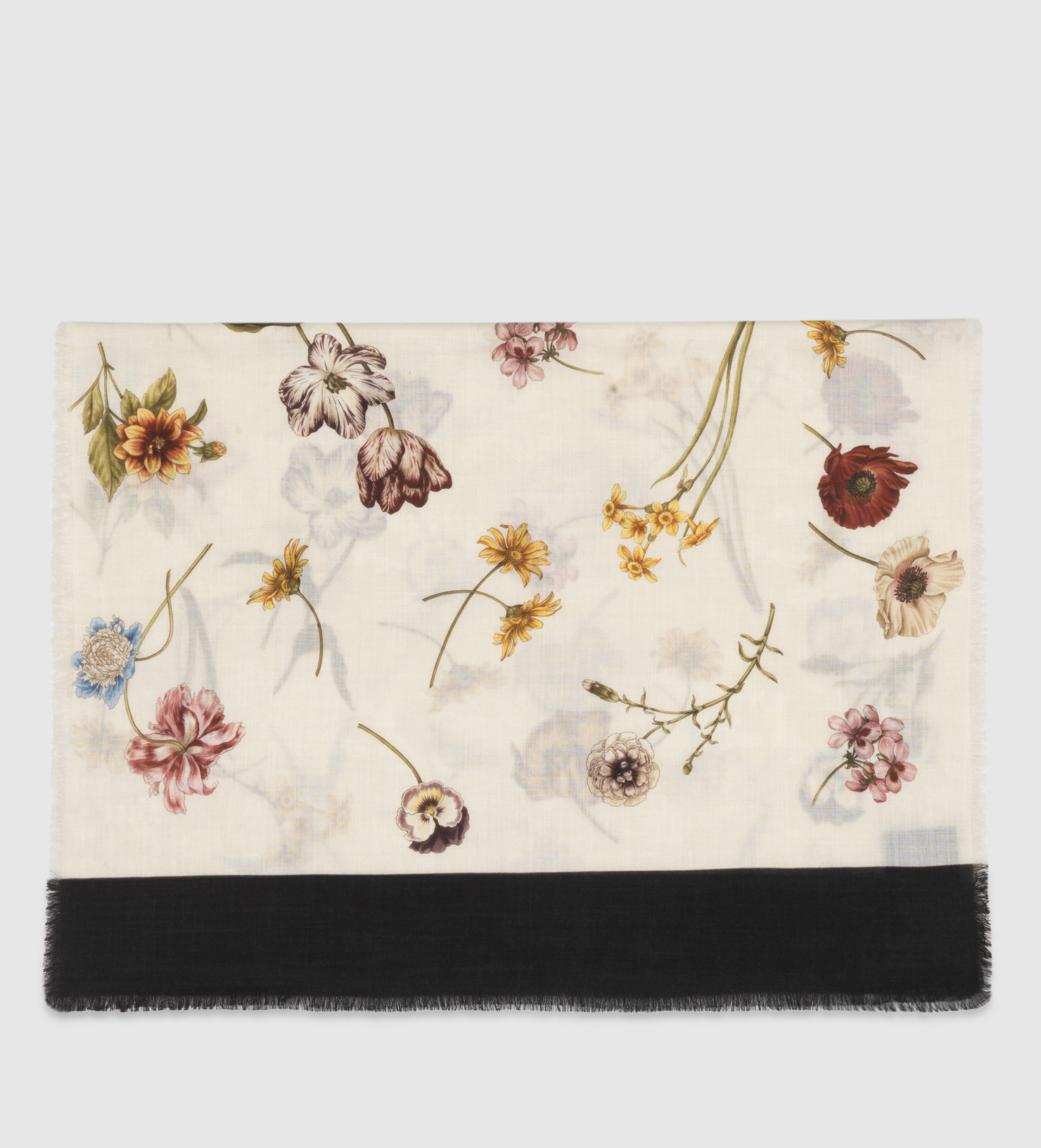 44a02afabee0e Gucci Tossed Floral Print Wool Scarf for Men - Lyst