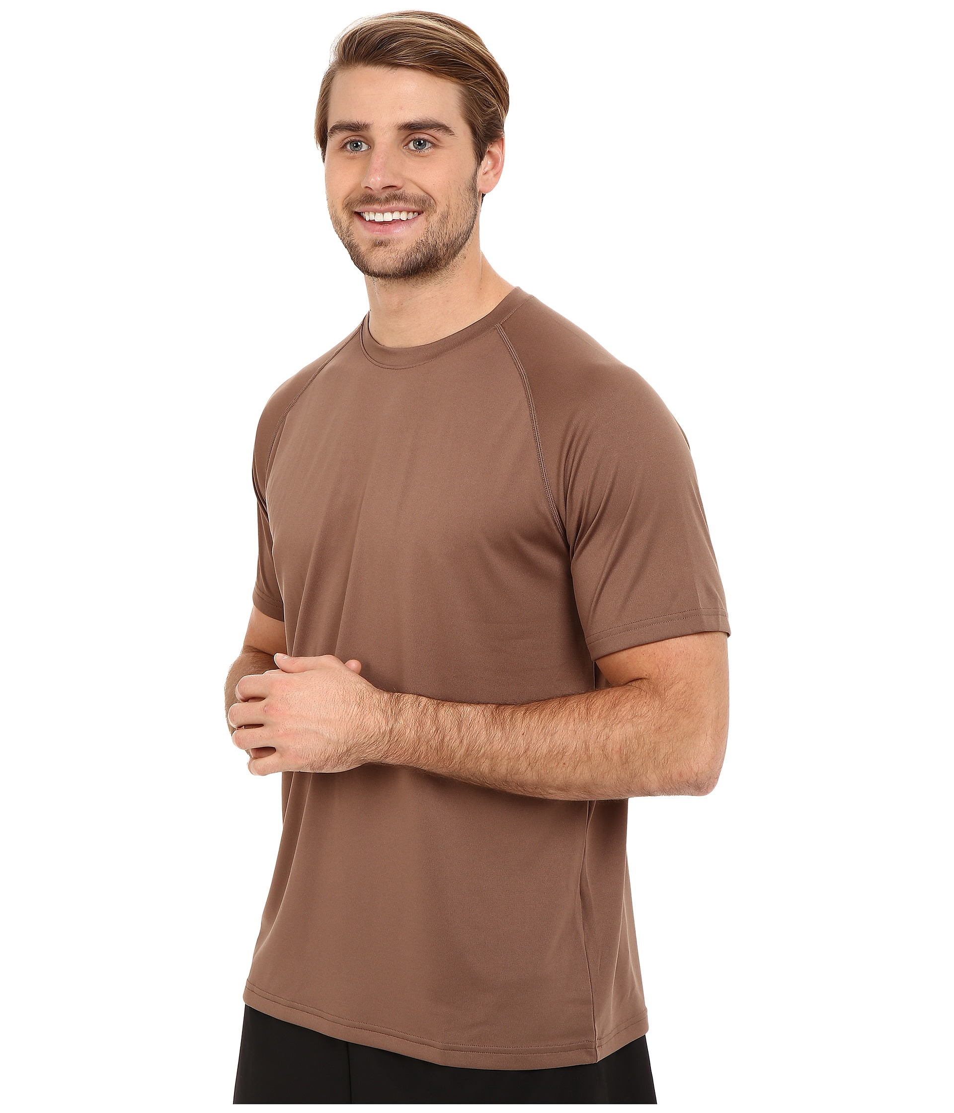 Lyst under armour ua tac tech tee in brown for men for Under armour brown t shirt