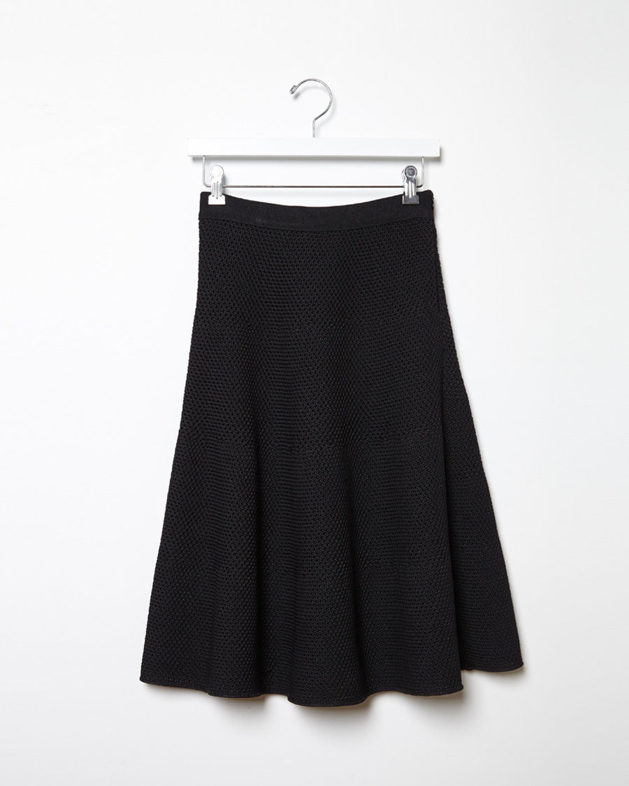 proenza schouler knit a line skirt in black lyst