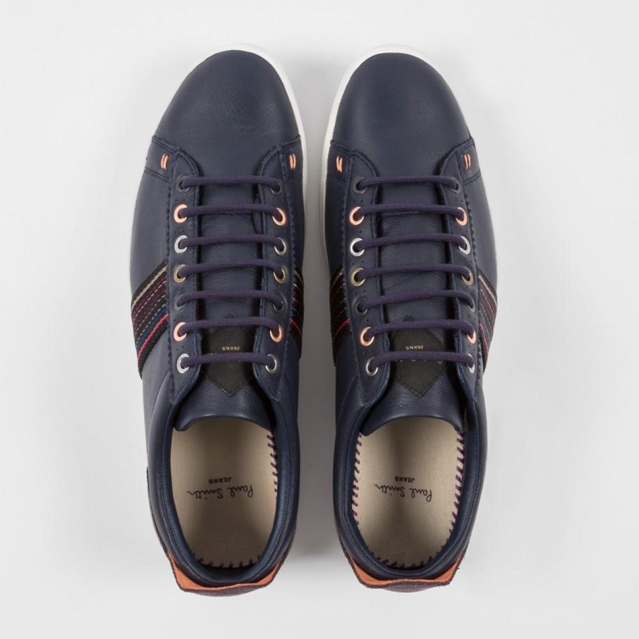 navy leather trainers on sale ae128 5c482