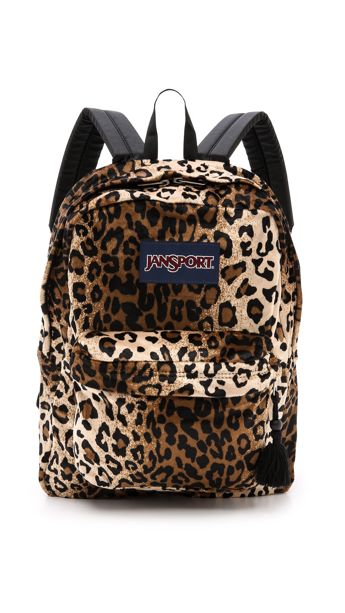Jansport High Stakes Backpack - Black/Beige Plush Cheetah | Lyst