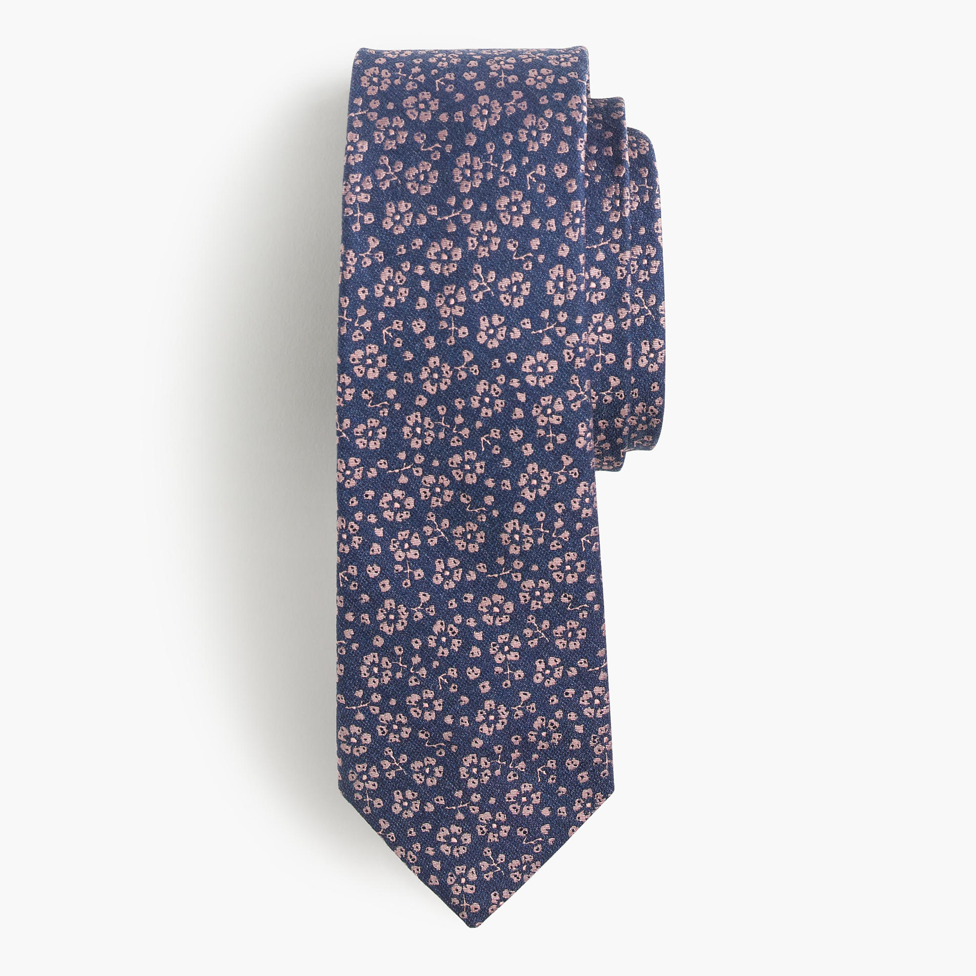 j crew italian silk tie in floral jacquard for lyst