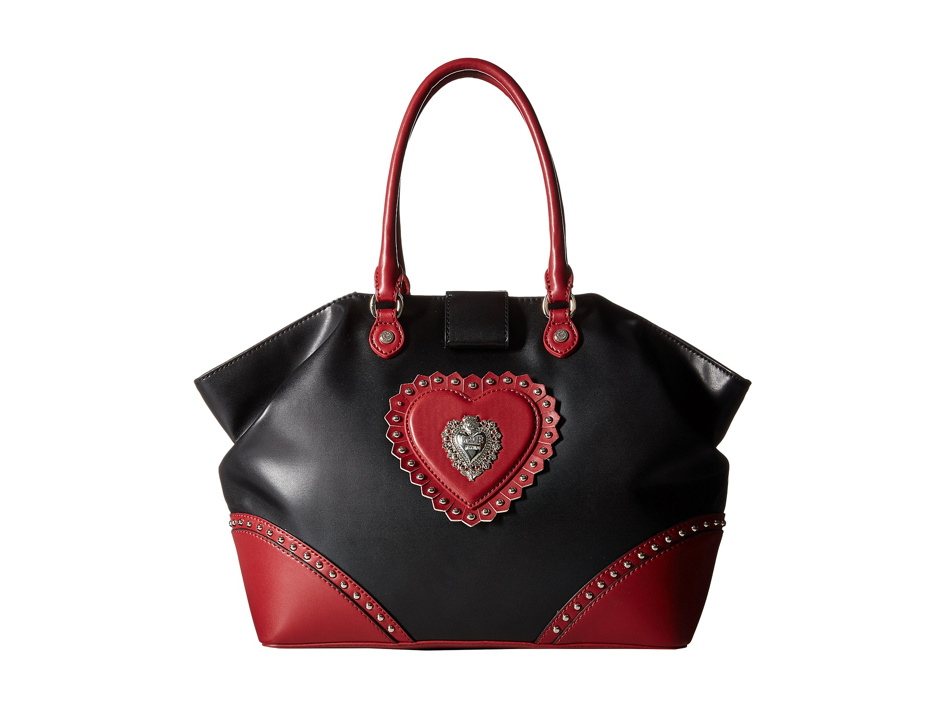 c3df2835b9bb3 Lyst - Love Moschino Studded Tote Bag in Red