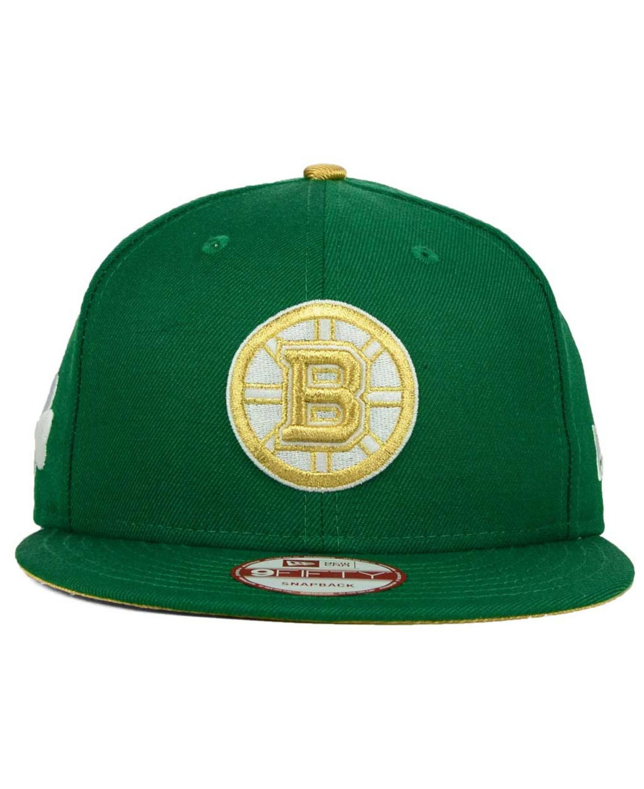 quality design 383a5 d47b3 KTZ Boston Bruins St. Pat 9fifty Snapback Cap in Green for Men - Lyst