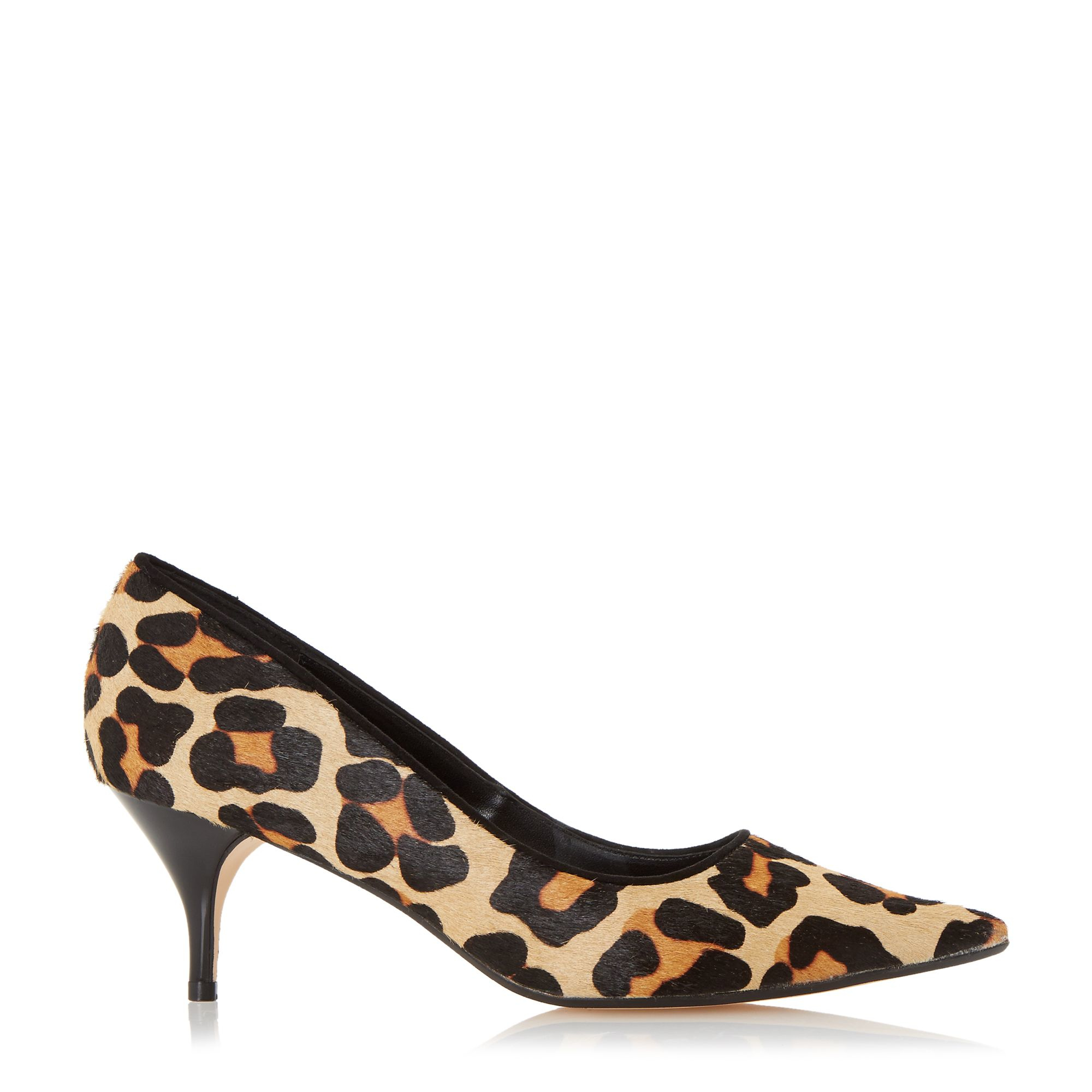 Leopard Print Heels. Ever chic, leopard print heels look posh in any environment. Sauntering through the urban jungle, employ pumps to blend into the fashion savvy habitat. Infuse the highest dosage of leopard in a look by opting for the full enclosure of closed .