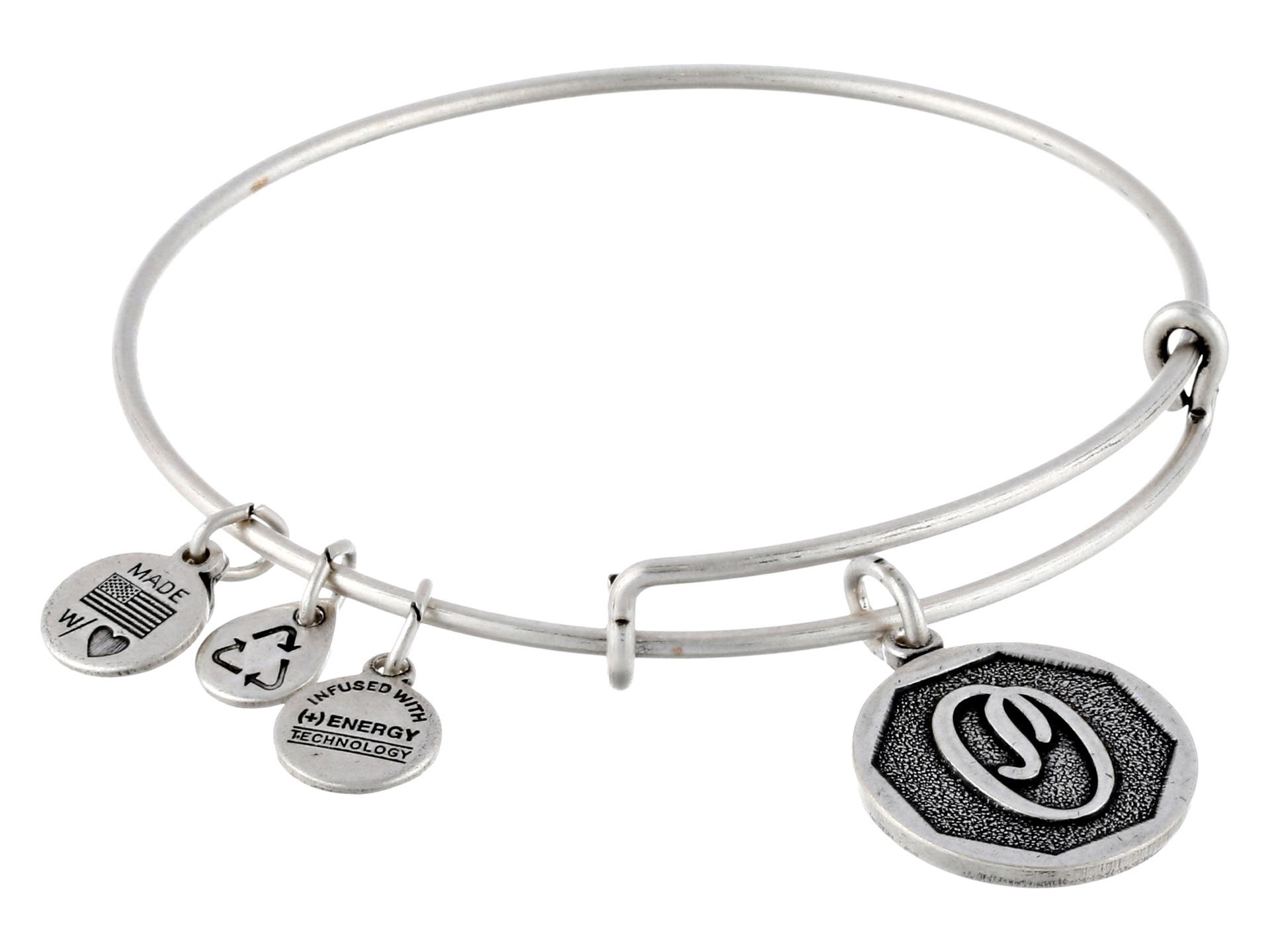 alex and ani initial o charm bangle in silver rafaelian