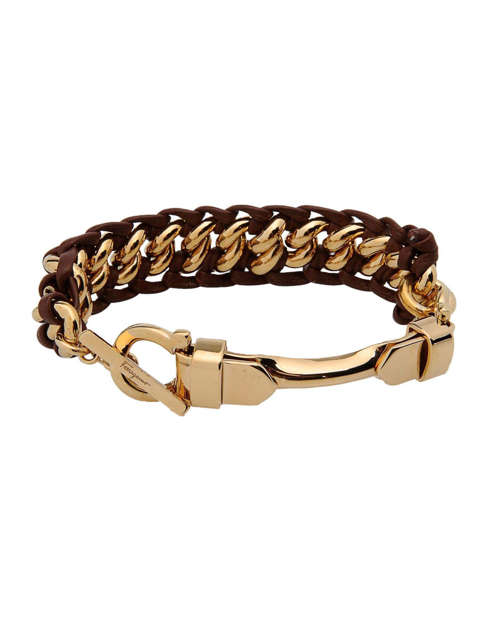 ferragamo bracelet in brown lyst